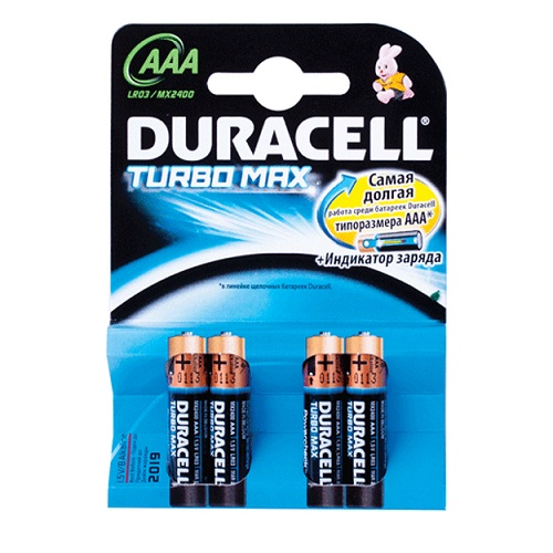 DURACELL Turbo basic AAА батарейки алкалиновые 1.5V 4шт/уп