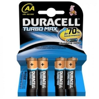 DURACELL Turbo AA батарейки алкалиновые 1.5V 4шт/уп